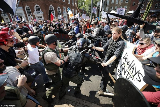Protesters and counter-protesters clashed at the Violent Unite The Rally in Charlottesville back in August 2017