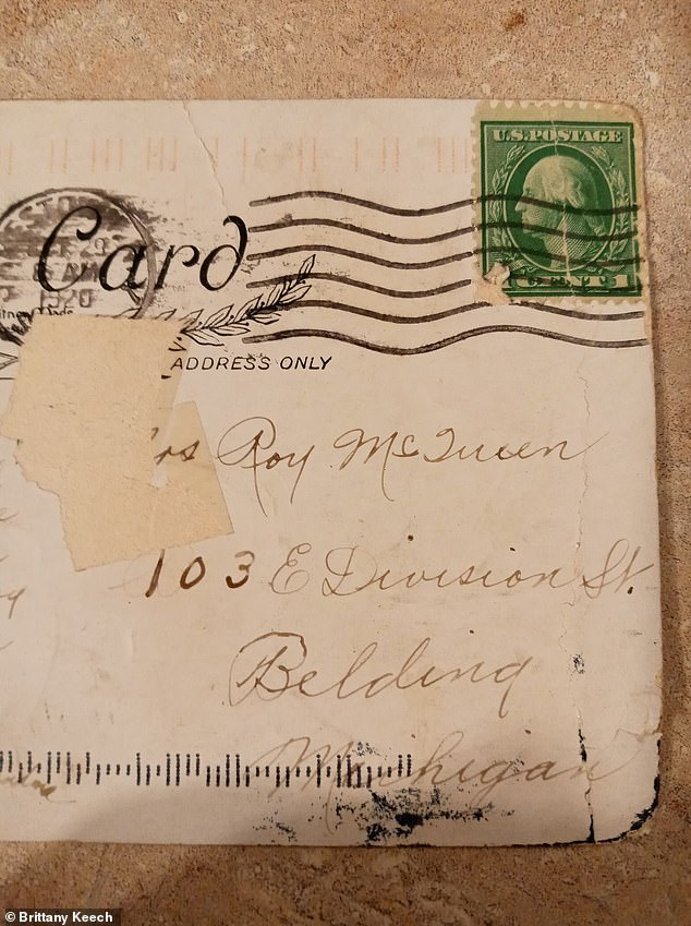 The postcard was mailed with a 1 cent stamp just before Halloween 1920