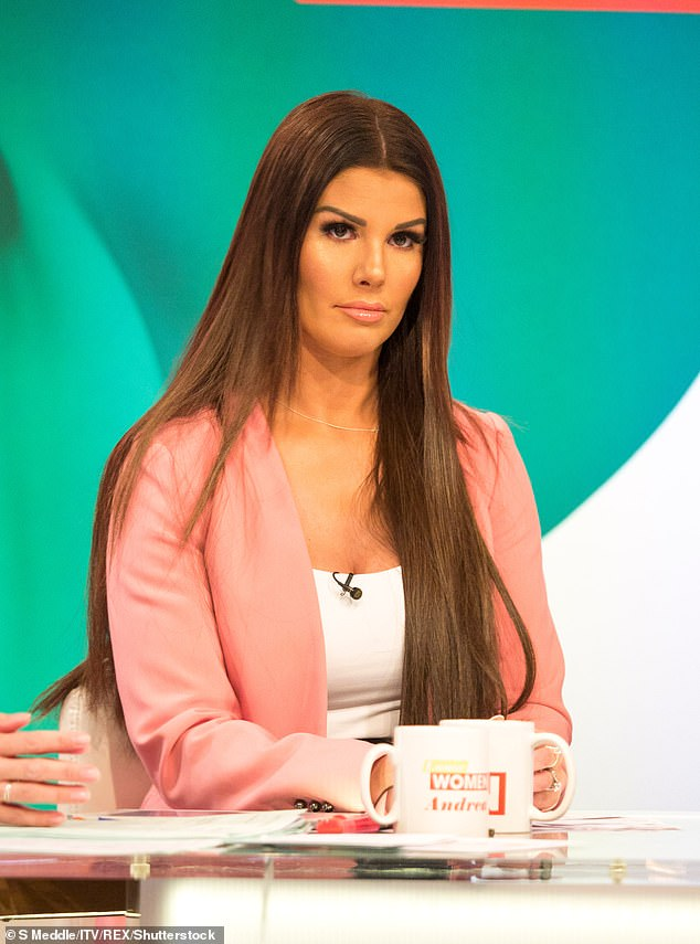 Fellow WAG Rebekah Vardy, pictured, was accused of leaking information from Instagram