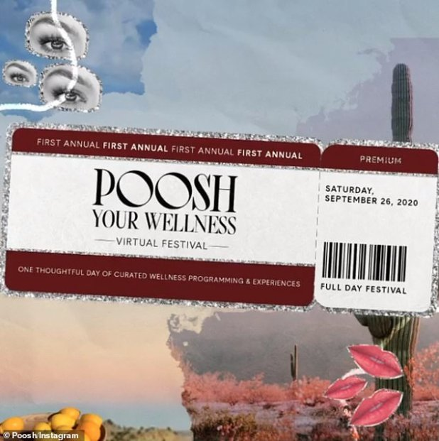 Wellness Summit: Tickets range from $ 25- $ 250 for the inauguration, with speakers such as Virtual Posh Yourness Festival, Kourtney, Khloé, Malika Haqq, Adrienne Bailon, and Miranda Kerr on September 26