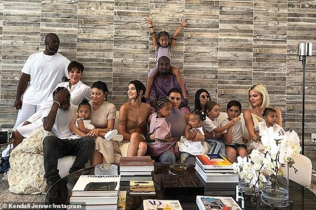 2019 Family Picture: Kardashian (5-R) said that she thought that the U video stuck with Vixen (6-L) only picked her up because Kim Kardashian West (7-R) and Kylie Jenner (5-L) flipped out. Would have been