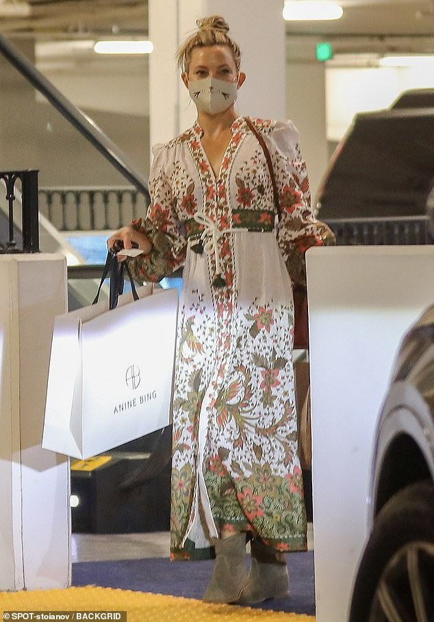 Retail therapy: Kate Hudson made some time for herself on Saturday afternoon by venturing out of the house and indulging in some much needed retail therapy in the Pacific Palisades