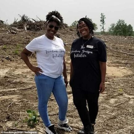 Walters (left) and her friend, Ashley Scott (right), came up with the idea amid the racial turmoil gripping the nation following the police killings of George Floyd, Breonna Taylor, and Ahmaud Arbery