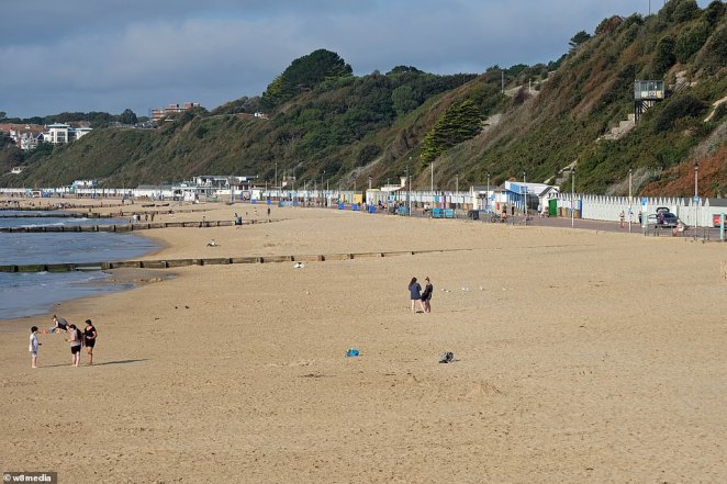 People began to make their way onto the beach today as bright and sunny spells made their return to most of the UK