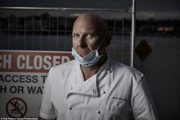 Chef Matt Moran photographed during the restaurant closures of COVID-19. Moran has pleaded with the NSW government to undo capacity limits