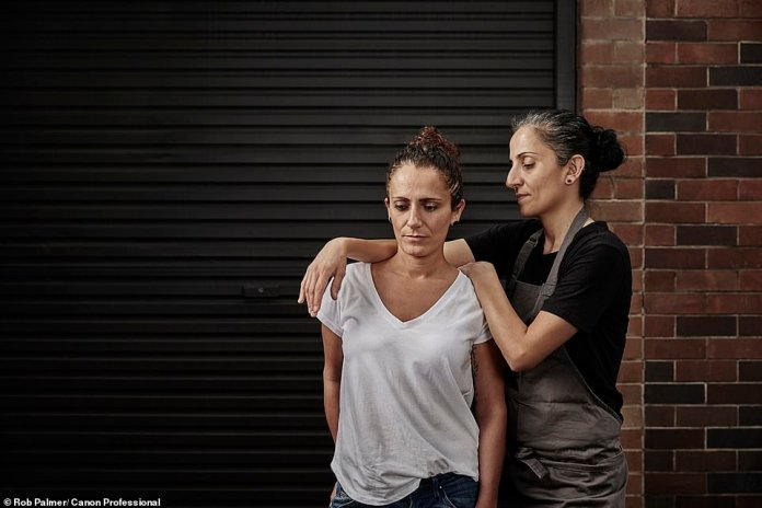 Carol and Sharon Salloum, sisters and owners of Almond Bar. With eat-in not being an option, they had to shut their doors