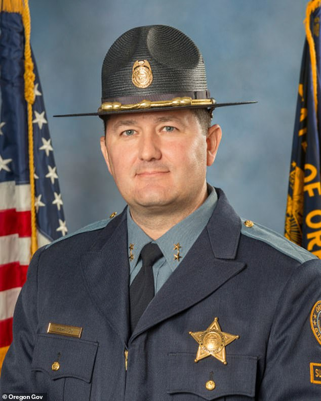 Walker: 'Superintendent Hampton's assessment was I overstepped my role and took this action without authority to do so.' Pictured: State Police Superintendent Travis Hampton