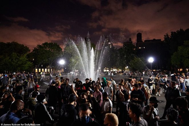On Friday night, NYPD officers from the 6th Precinct responded to the park, finally breaking up the party around 2am