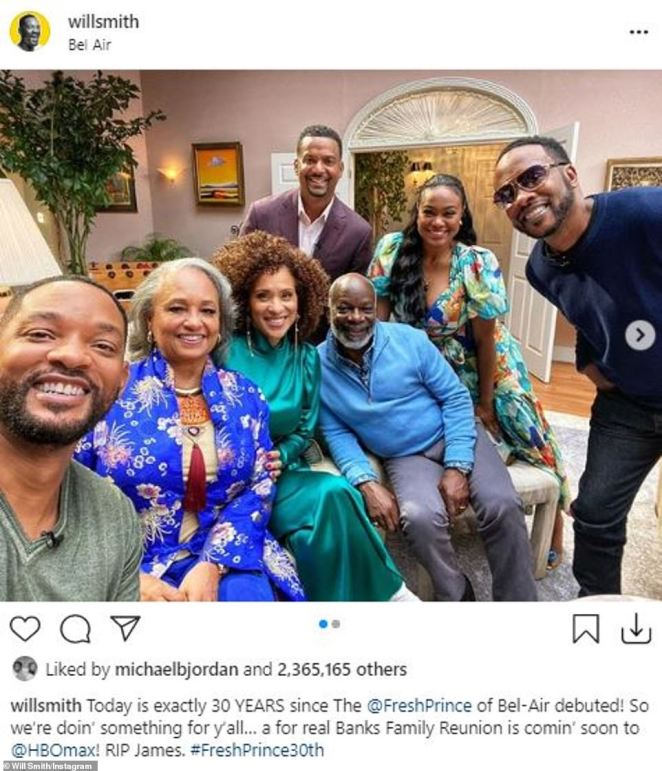 Will Smith recently shared a picture on Instagram of the surviving cast members filming a reunion special to coincide with the show's 30th anniversary