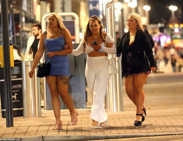 LEEDS: A group of women in Leeds, Yorkshire, hit the two on the final night of freedom before new rules are introduced for social distancing