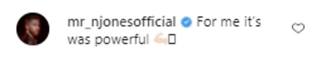 Support: Ashley's post was flooded by messages of support from his fellow dancers and celebrity pals
