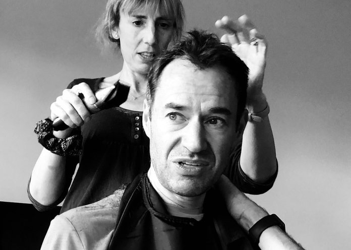 Short Cut by Kate Ainger and Coni. A lack of access to hairdressers early on in lockdown led many Britons to improvise