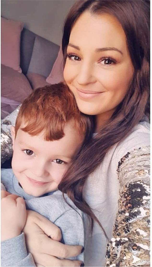 Pictured: Kelly Smith and son Finn. Kelly Smith, 31, died from bowel cancer after her chemotherapy treatment was paused during the height of the coronavirus pandemic
