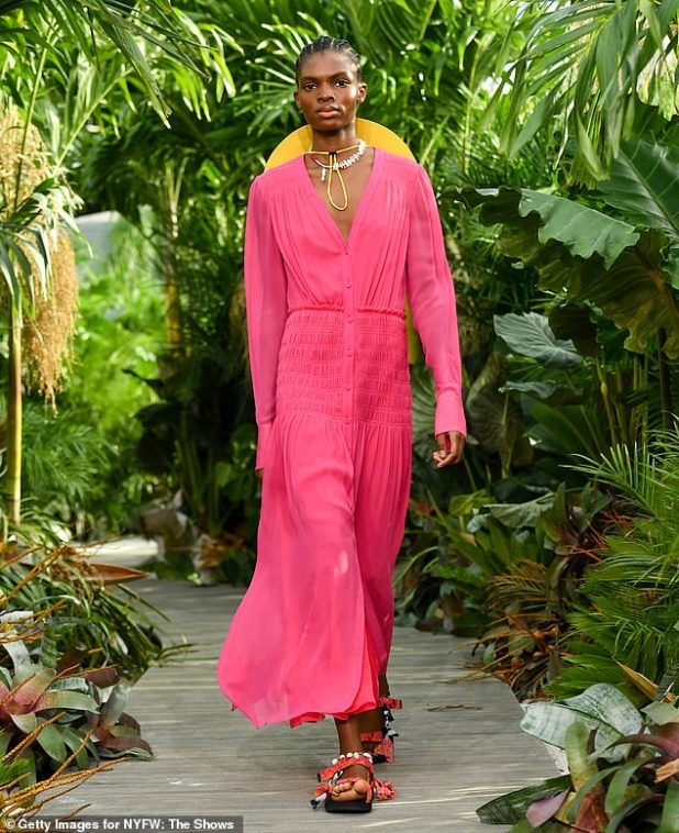 Vibrant: Wu's Spring 2021 collection was made of bright, bold colors and vacation-ready silhouettes inspired by the designer's 'home away from home', Tulum, Mexico