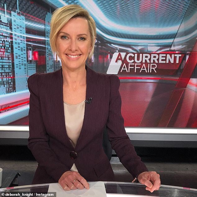New role:Deborah helps fill in on A Current Affair (pictured) and has her own afternoon radio show on 2GB