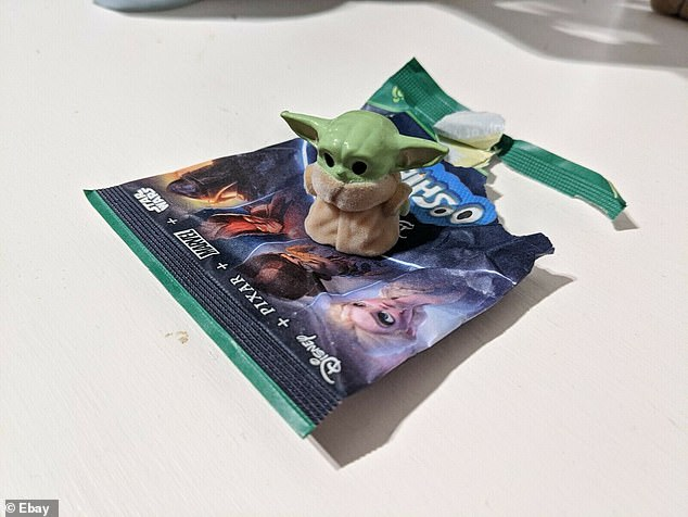 The seller, from Sydney's Warriewood on the Northern Beaches, listed The Child figurine from Star Wars for a starting bid of $100 on Saturday