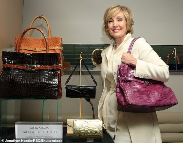 Before Lana Marks became a diplomat, she was a luxury handbag designer.  She is featured in front of her collection in 2009