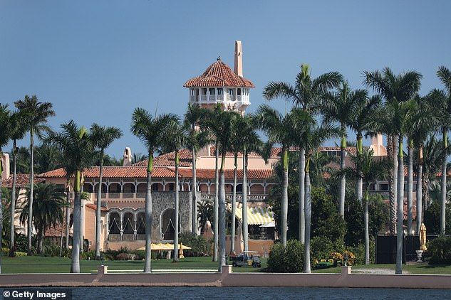 Marks along with her husband are both members of Donald Trump's Mar-a-Lago club, pictured