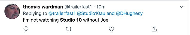 'I'm not watching without Joe!' Many viewers have criticised the revamped version and want Joe to return to the show alongside Sarah Harris