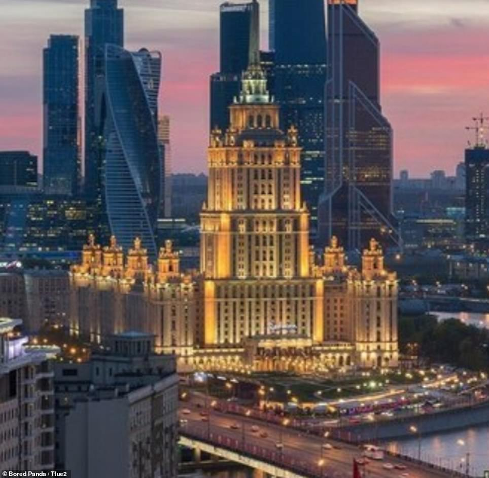 Moscow's university now stands in front of the city's financial building
