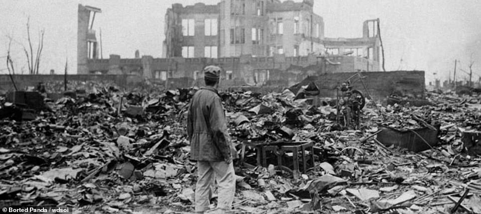 Hiroshima pictured after the atomic strike of 1945