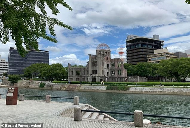 Hiroshima's war memorial the Atomic Bomb Dome pictured in 2020