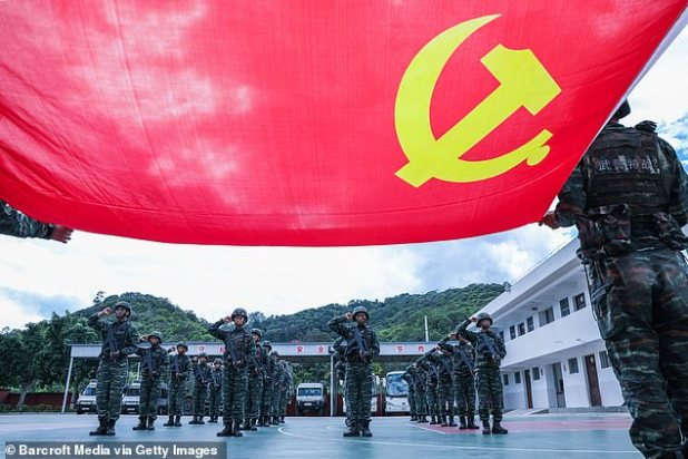 Regional alliances are building up as China rises and its Pacific region is thrust in both Washington and Indo-Pacific countries.  Picture: Chinese Communist Party members sworn allegiance to China's ruling party in Yunnan Province on June 28