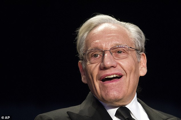 Pictured: Bob Woodward. Tape recordings and extracts from the veteran Watergate reporter's forthcoming bok Rage make a series of bombshell revelations about Trump