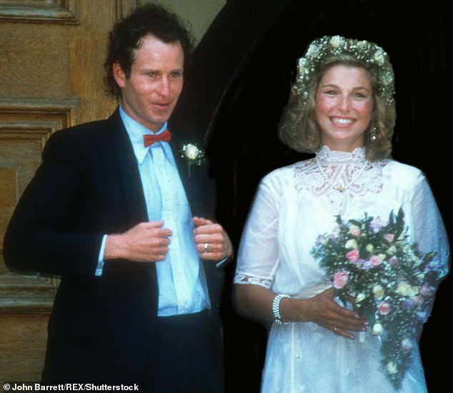 Ex: Tatum shares her three children with her ex-husband John McEnroe (pictured), whom she divorced in 1994, six years after their high-profile marriage in 1986