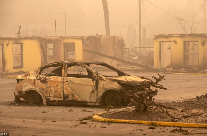 The Oak Park Motel was destroyed by the flames of the Beachie Creek Fire east of Salem, Oregon, Sunday