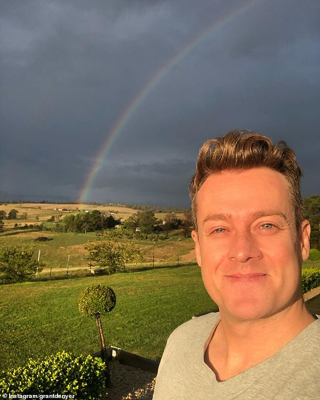 REVEALED: Grant Denyer, 43, (pictured) has revealed he 'couldn't tell the difference between reality and a dream' as he candidly opened up about using painkillers