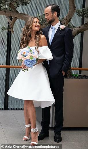 Aruna and Thomas on their wedding day