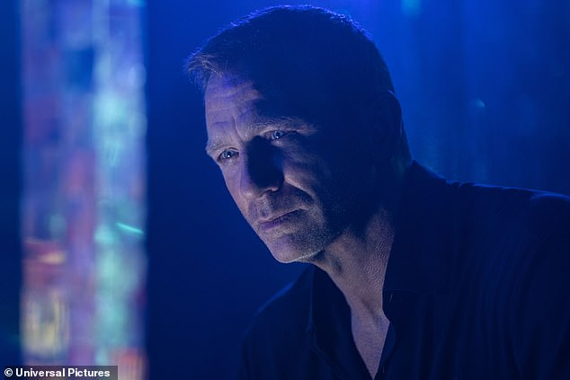 Action star: Daniel Craig, 52, looks brooding as ever in newly released images for No Time To Die as he marks his final turn as James Bond