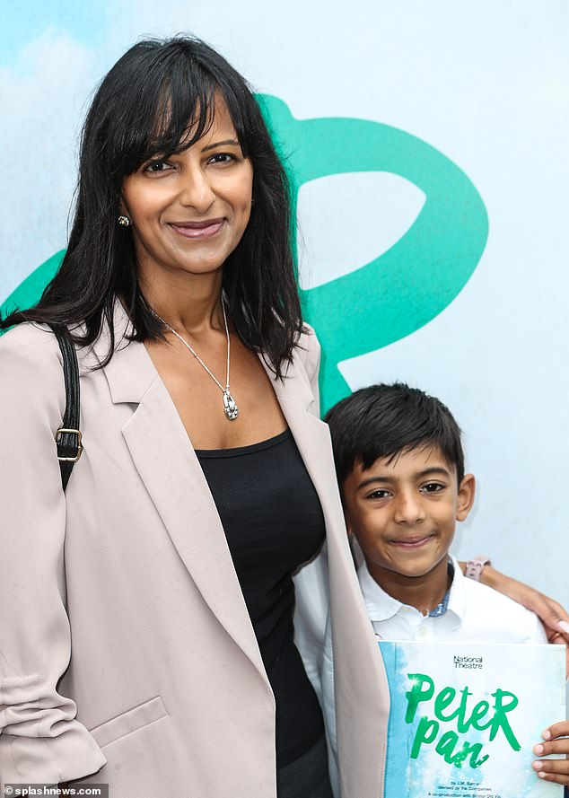 Ranvir said: 'I struggle with an enormous amount of guilt with my son and not being there when he goes to school. We're very attached to one another because it's just me and him' (pictured in January)