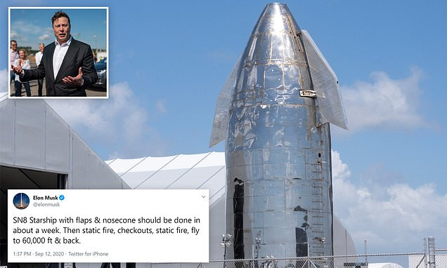 SpaceX set to launch its latest Starship prototype 60,000 ...
