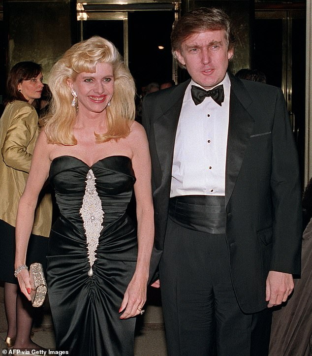 Opinion: Ivana, pictured with her former husband Donald Trump in New York in 1989, said she was 'very proud' of how her ex is handling immigration in the U.S.