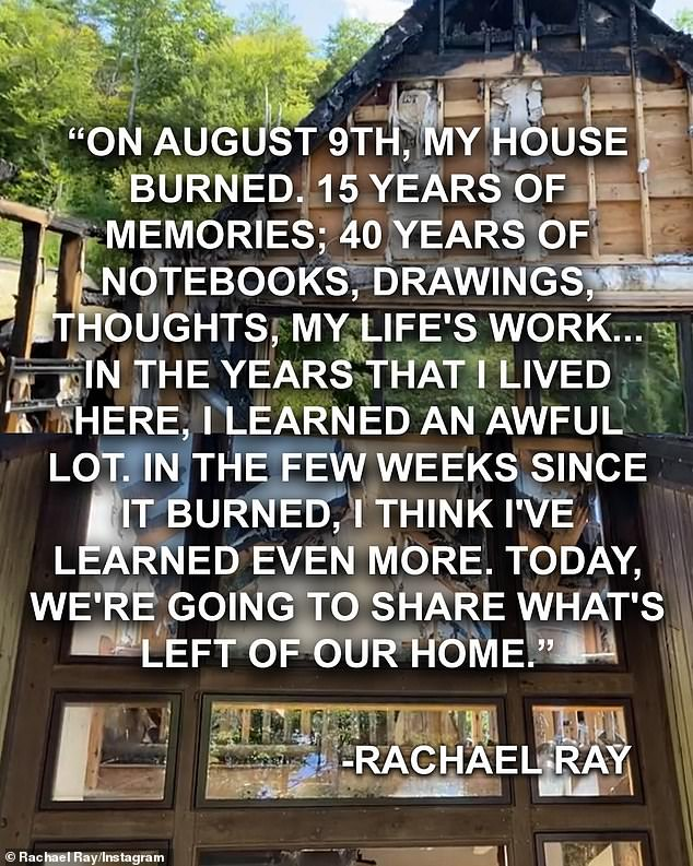 Sharing: Ray will be talking about the fire in the season 15 premiere of her talk show on Monday