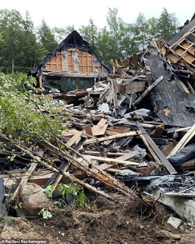 Stat officials announced at the end of August that the fire started in the chimney. Rachael explained 'It was creosote that spit out the top and landed on the roof,'