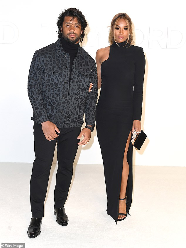 Happy couple: She and Russell share a three-year-old daughter called Sienna and also raise Future, Ciara's six-year-old son by the rapper of the same name