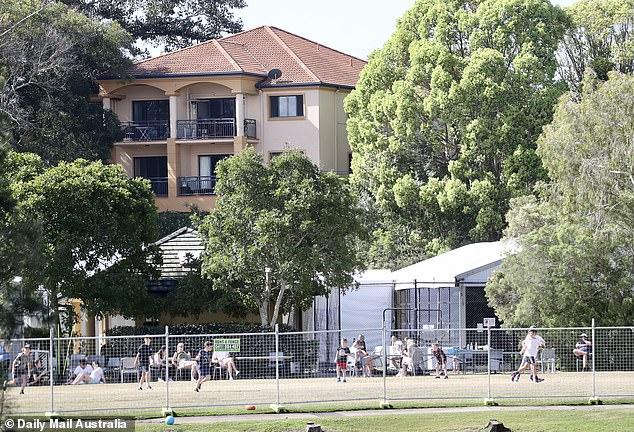 Children within the hub were running around and playing ball games on Sunday