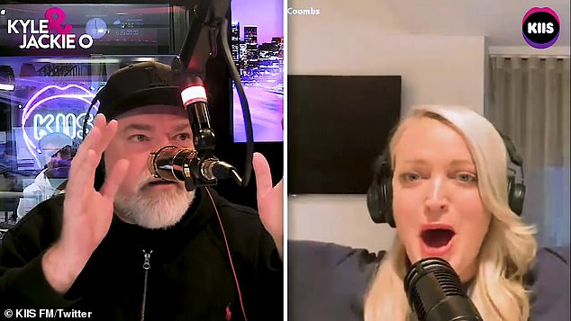 It was just a prank! As the phone call reached fever pitch, hosts Kyle and Jackie O interrupted and confirmed it was just a prank