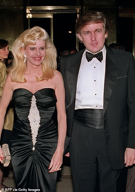 Donald Trump's ex-wife Ivana, pictured with her former husband in New York in 1989, has been called a 'bigoted embarrassment' for making 'disturbing' comments on US immigration today