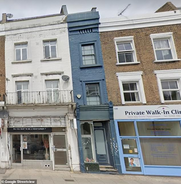 The narrowest house in London, standing only 5ft 5in wide, is going on sale today for £995,000
