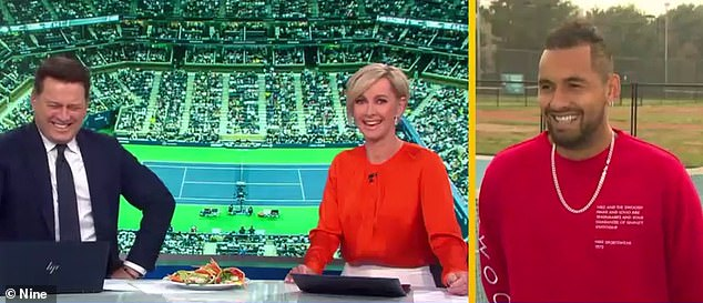Kyrgios' chat with the Today Show (pictured) fared better than their last awkward interview