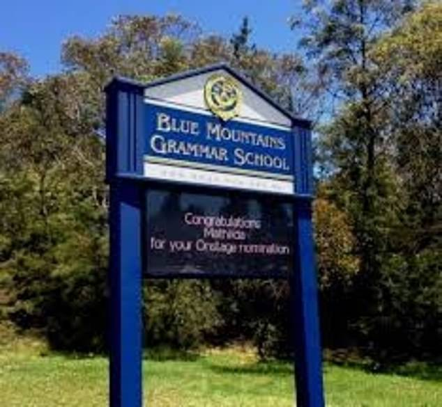 A new case was also diagnosed at Blue Mountains Grammar school (pictured), which has been closed for cleaning