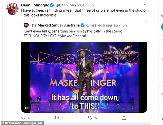 What a feat!Not only were fans seriously impressed, so to was Dannii Minogue. To audience members at home, it appeared as though the whole panel - and Osher - were in studio