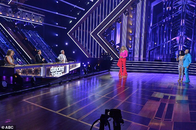 Introductions: Tyra introduced the judges for season 29, which included series regulars Bruno Tonioli and Carrie Ann Inaba and the newly added Derek Hough