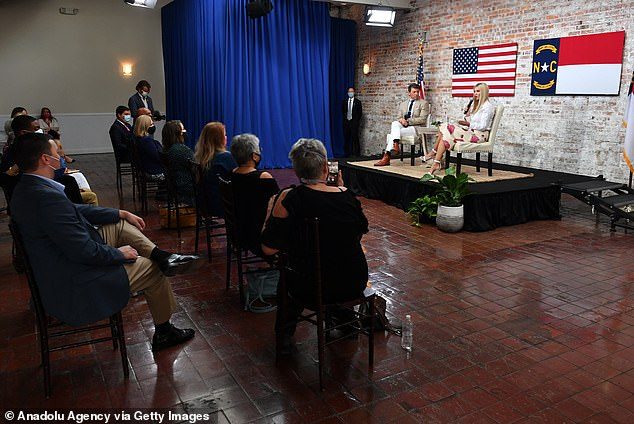 Ivanka Trump spoke to a small crowd in downtown Wilmington highlighting her father's efforts over the last three-and-a-half years