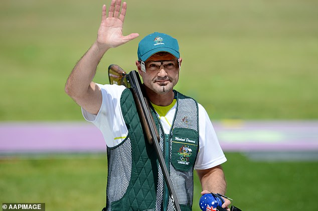 Diamond won the trap world title in 2007, finished fourth in the London 2008 and Beijing 2012 Olympics and hoped to be flag bearer for his seventh Games in Rio. He is pictured in London