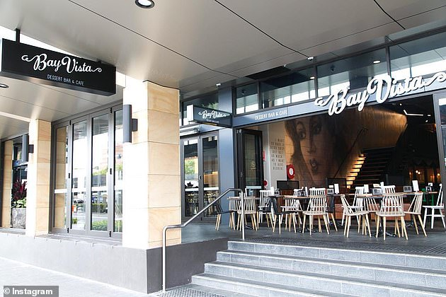 Bay Vista cafe in Parramatta, in Sydney's west, where Lozina beat the mother-of-four